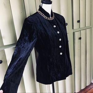 Fabulous Crushed Velvet BLACK Blouse/Jacket